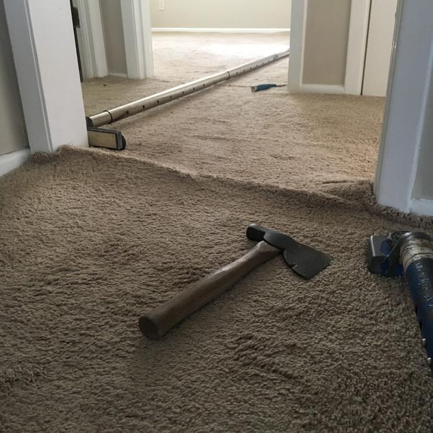 Carpet before restrech