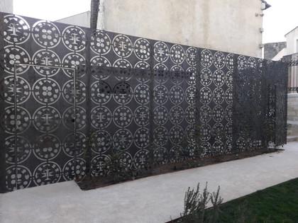 Tôles Corten Château des Comtes de Melgueil à Mauguio