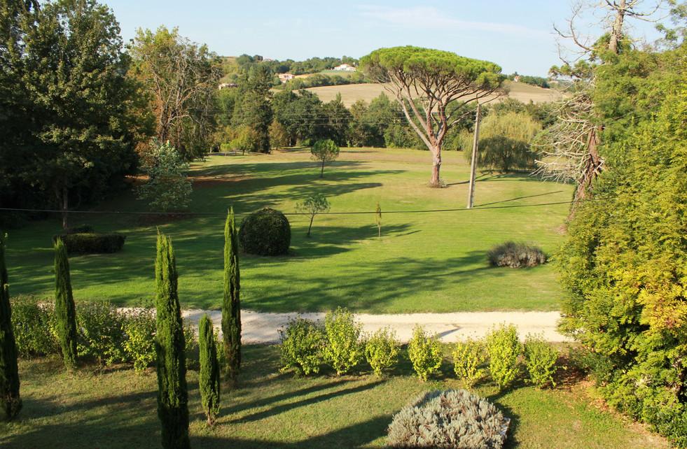 Vue de la terrasse, l'Orangerie