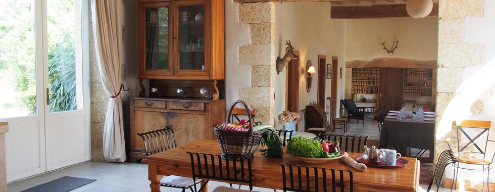 Coin salle à manger, l'Orangerie