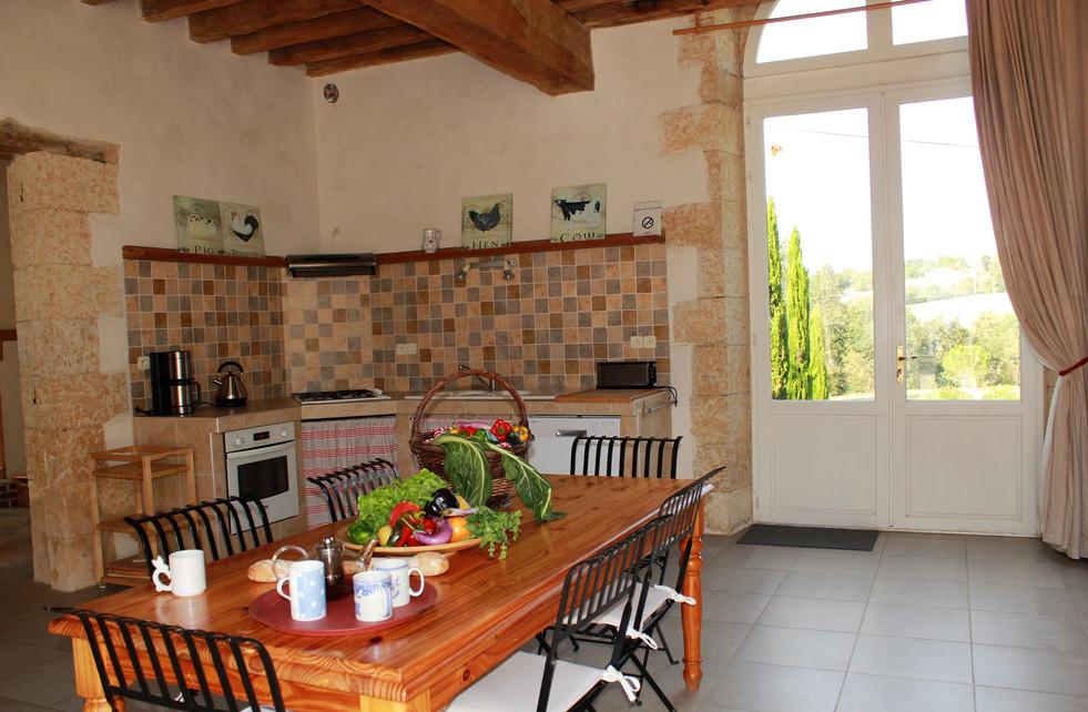 Cuisine, salle à manger, l'Orangerie