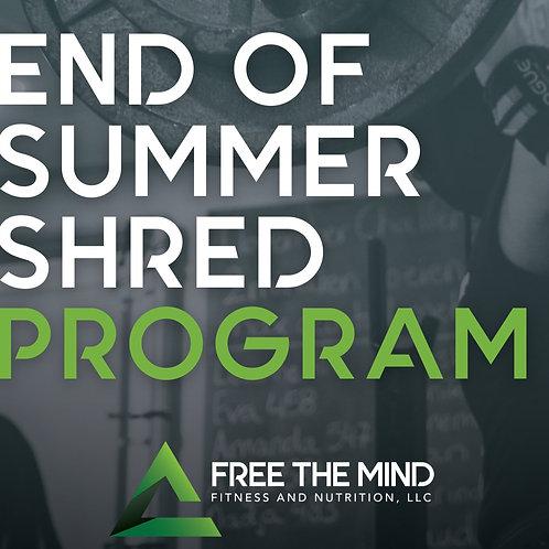 End of Summer Shred Program