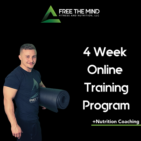 4 Week Online Training Program W/Nutrition Coaching- Shae