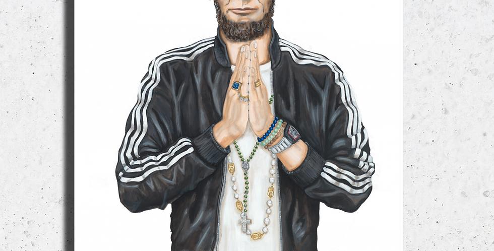 Prayer Hands Abe Print