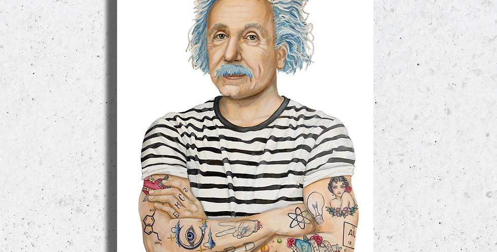Inked Einstein Print