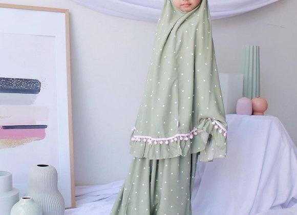 Kids 2 Piece Prayer Outfits - Polka Mixi