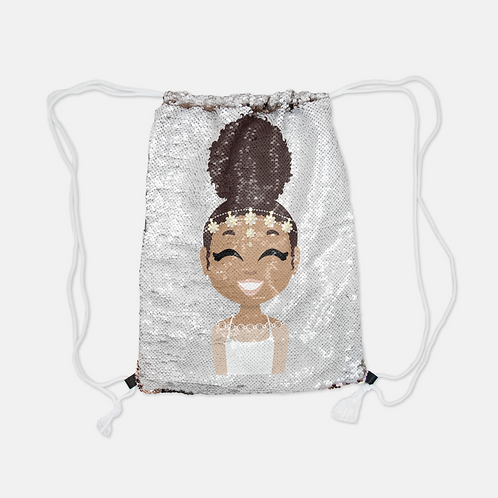 Princess Reversible Drawstring Backpack (sequin)