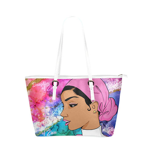 Daughter Of Zion Large Leather Tote