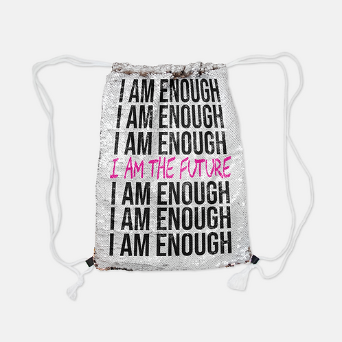 IAM ENOUGH Sequin Backpack