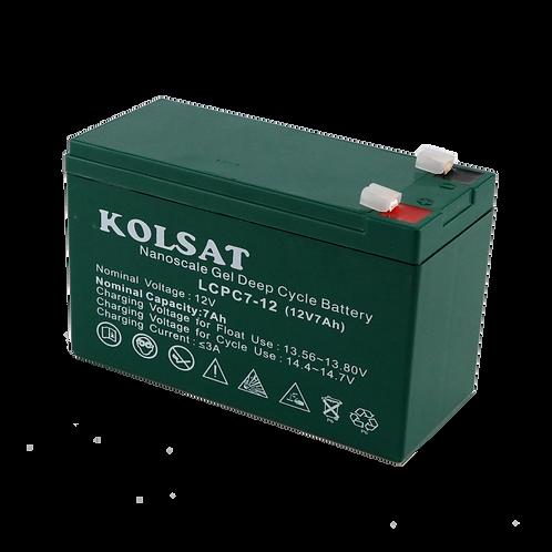 แบตเตอรี่ Kolsat Nano GEL 12V / 7Ah
