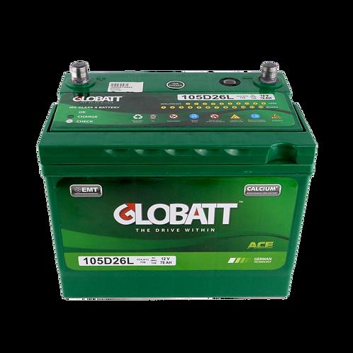 แบตเตอรี่ Lead acid Globatt ACE 105D26L