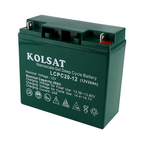แบตเตอรี่ Kolsat Nano GEL 12V / 20Ah
