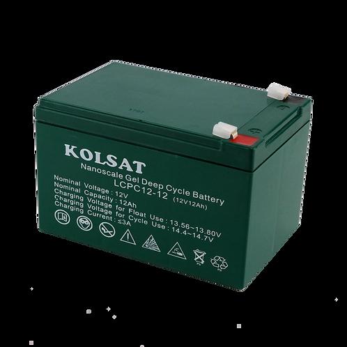 แบตเตอรี่ Kolsat Nano GEL 12V / 12Ah