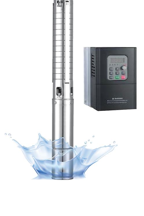 ปั๊มน้ำ AC/DC + คอนโทลเลอร์1500w 4SCH1500-80/7