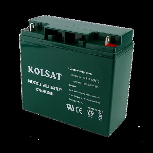 แบตเตอรี่ Kolsat VRLA 12V / 24Ah