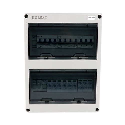 อุปกรณ์ตู้ Combiner box ขนาด 2string 3phase