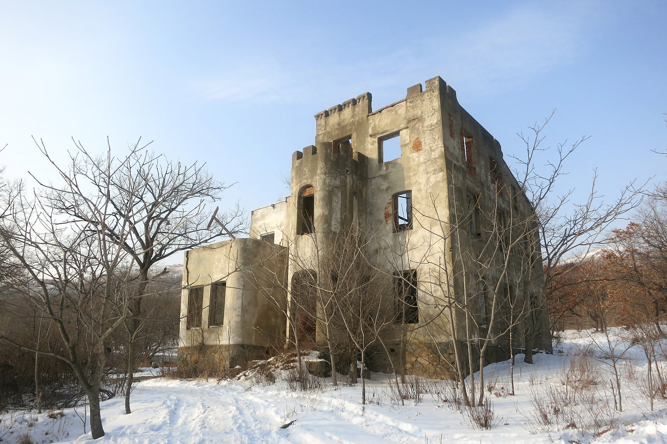 дом Яна Янковского в бухте Витязь Приморский край