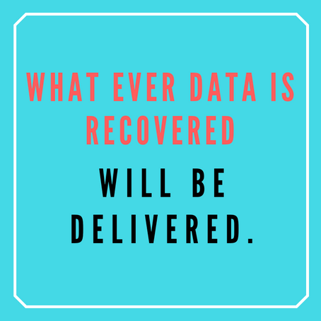 First Level Question from Data Recovery clients.