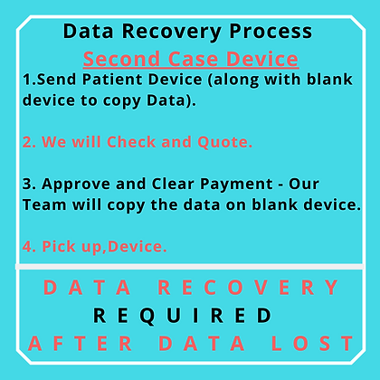 2nd Case Hard Drive 4 TB Process for Data Recovery