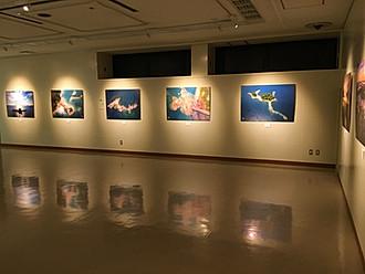 佐世保市島瀬美術センターにて空撮写真、映像展