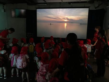 九十九島空撮映像上映開始