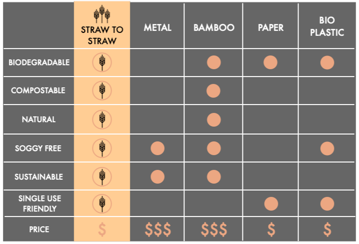 Plastic drinking Straw alternatives