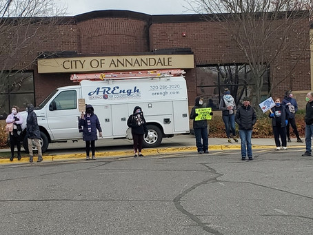 Women's March Oct 17 2020 Annandale, MN