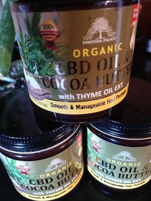 Organic CBD oil & Cocoa Butter Hair Pomade