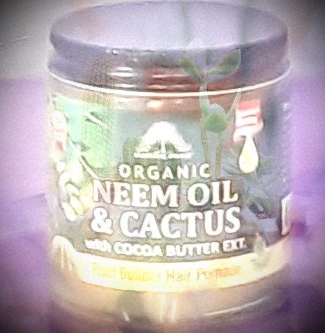 Neem Oil & Cactus Organic Hair Pomade
