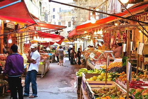 traditional street market palermo