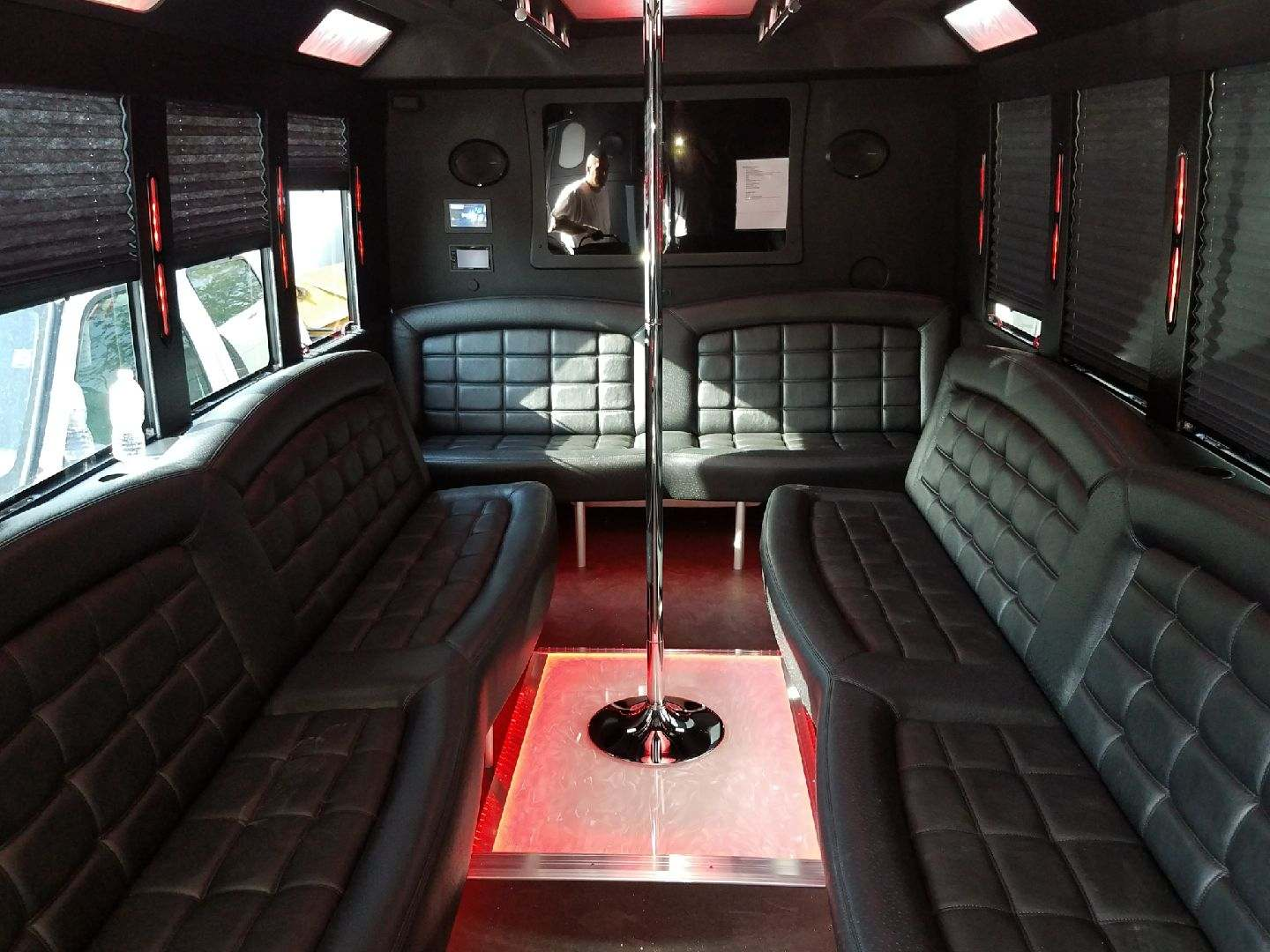Party Bus Interior Floor Color Change