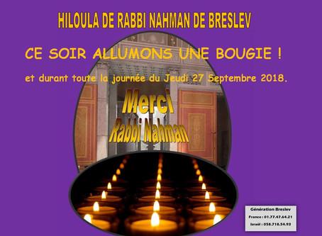 Hiloula de Rabbi Nahman de Breslev