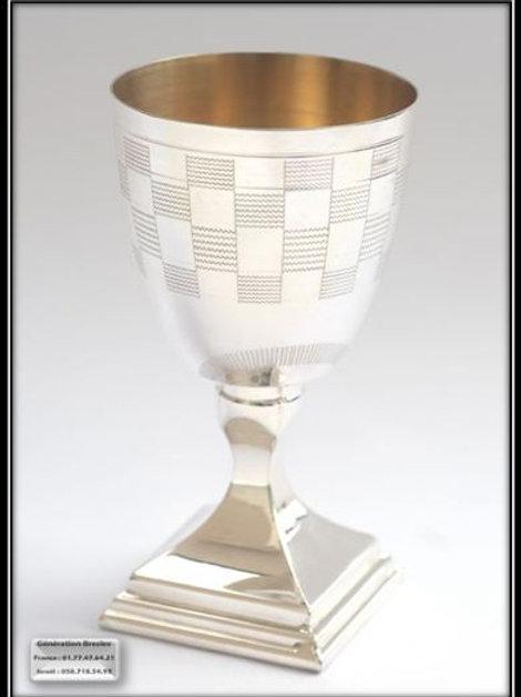 Verre a Kidouch - Rabbi Nahman de Breslev - 100% argent pur
