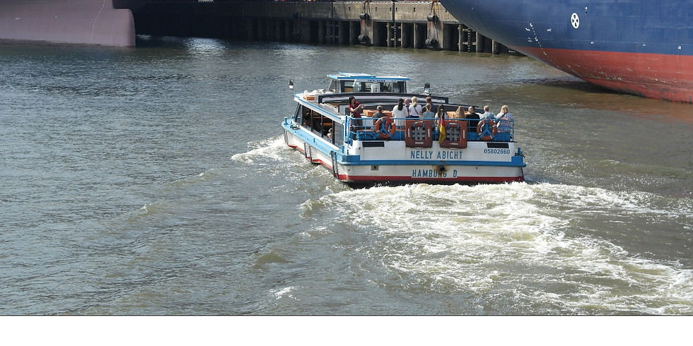 Einstündige Hafenrundfahrt mit einer Hamburger Barkasse