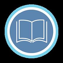 English blue and white logo