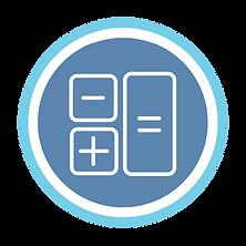 Maths blue and white logo