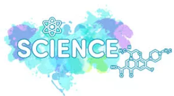 science blue and purple logo