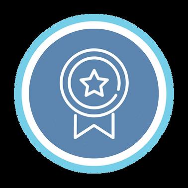 BTEC blue and white rosette logo