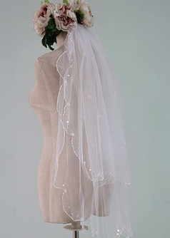 Wedding Veil - Fingertip blusher veil.JPG