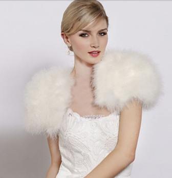 Wedding Accessories - Faux Fur Bolero.JPG