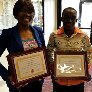 Scholarship Recipients- May 2016
