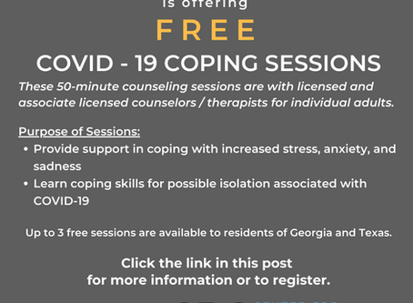 Announcing Free COVID Coping Sessions
