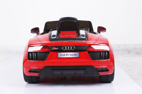 AUDI R8 SPIDER | KA AD R8SP JE1198 RD | Kinder Elektrofahrzeug | Lizenz | Audi  R8 Spider | Rot | 6V4 5AH Akku | 2 Motoren | 2,4Ghz Fernbedienung | MP3 |