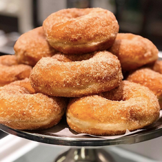 cinnamon sugar vegan donuts