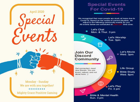 Special Discord Events For Covid-19