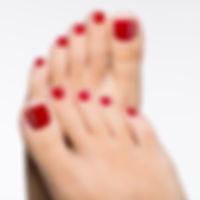 Closeup photo of a beautiful female feet