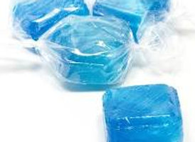 Blue Peppermint Cube Hard Candy