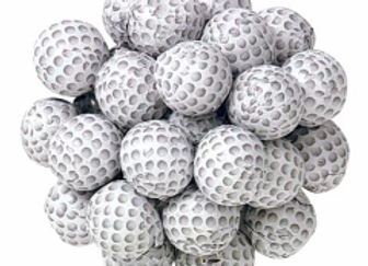 Milk Chocolate Foil Golf Balls