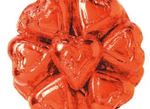 Milk Red Foil Hearts