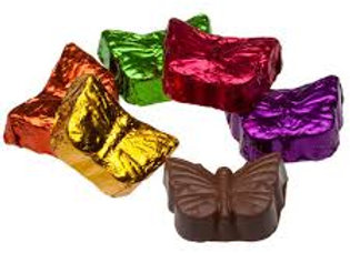 Milk Chocolate Foil Butterflies